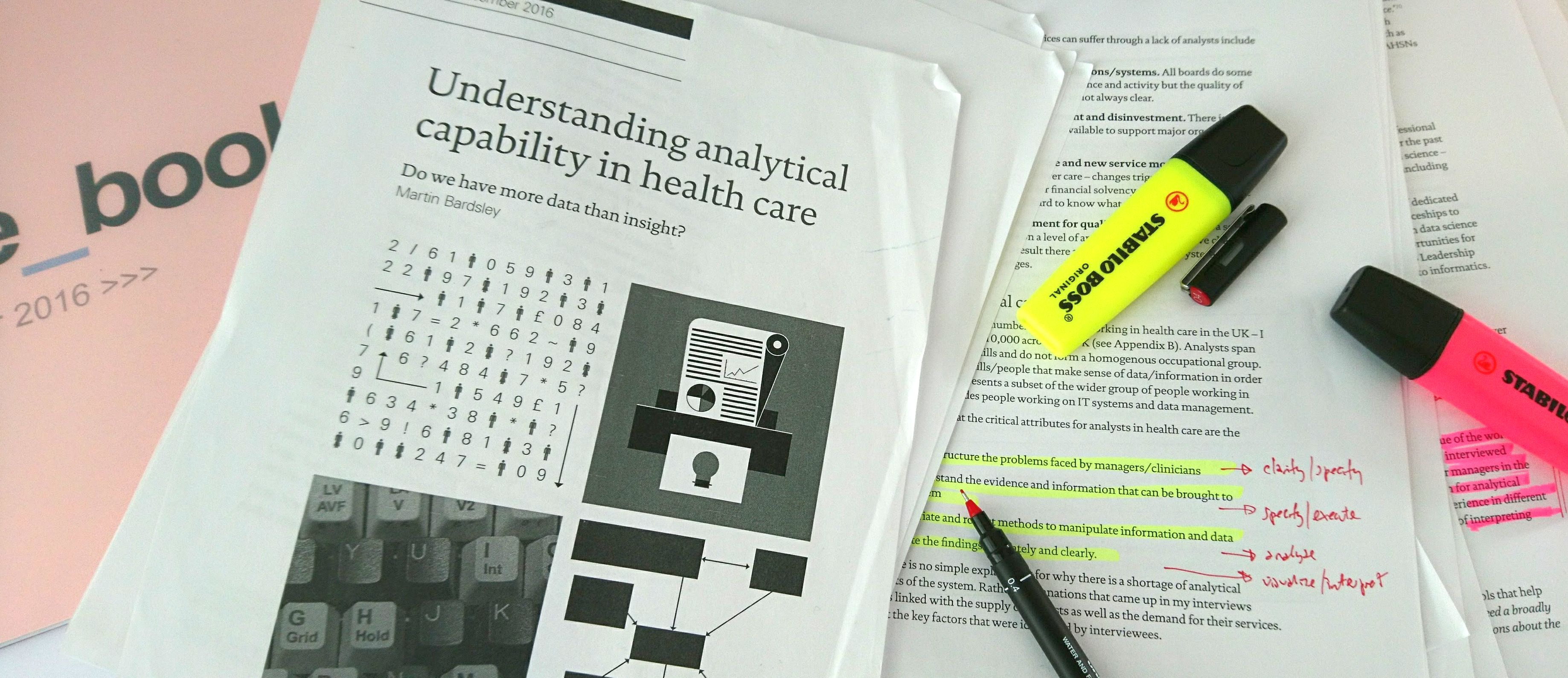 developing analytical capability in health care